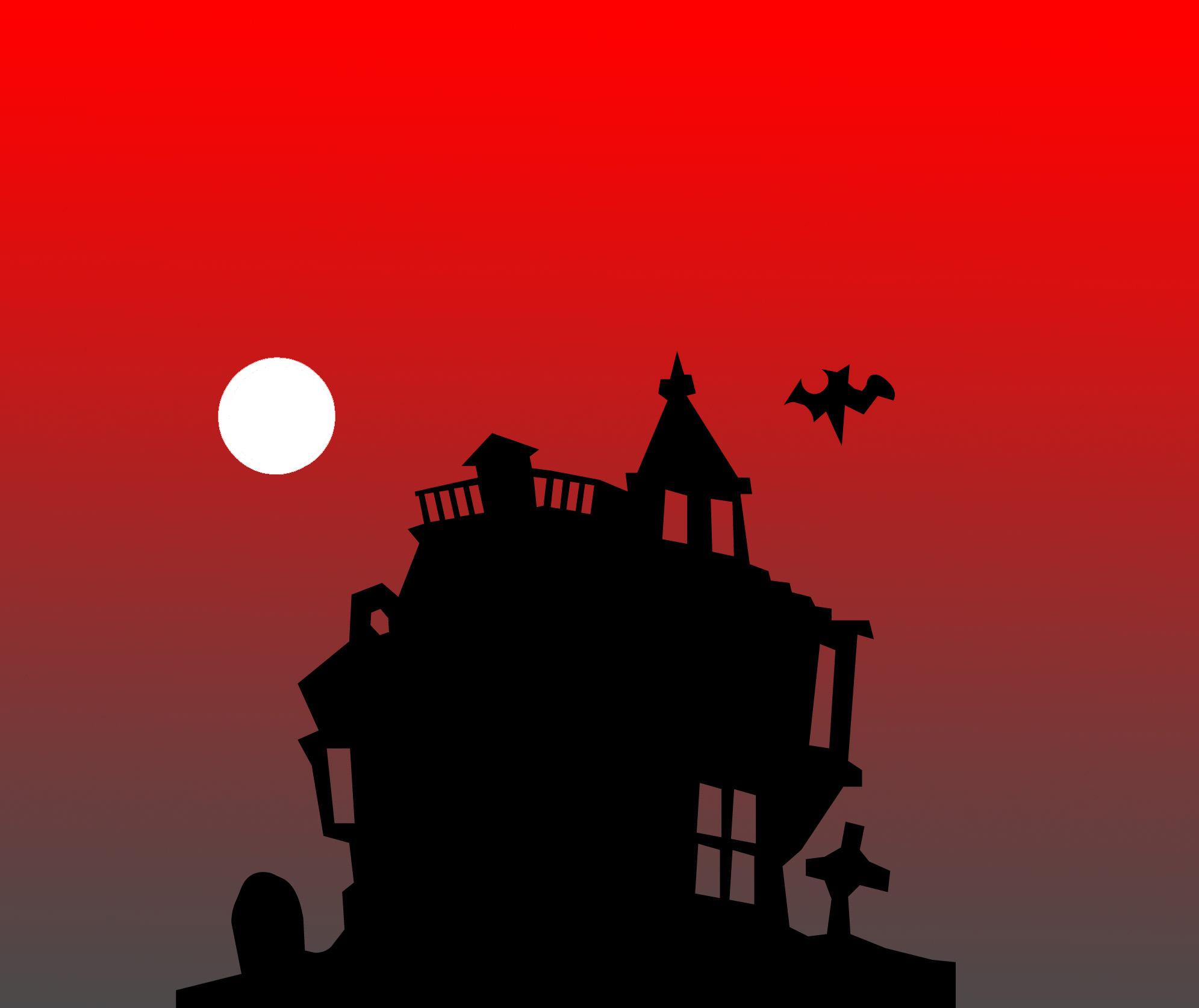 Haunted clipart moon #14