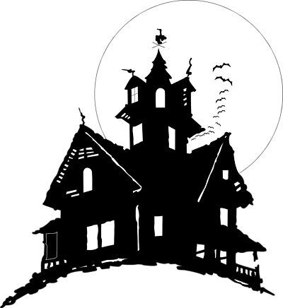 Haunted clipart mortality Clip Art House on Vector