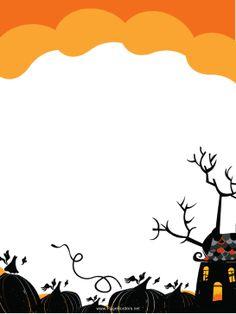 Haunted clipart printable PNG black house pumpkin JPG