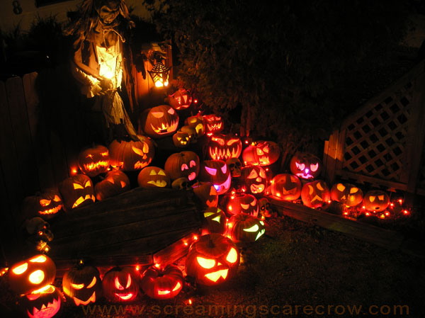 Haunted clipart pumpkin patch Night decorations patch and of