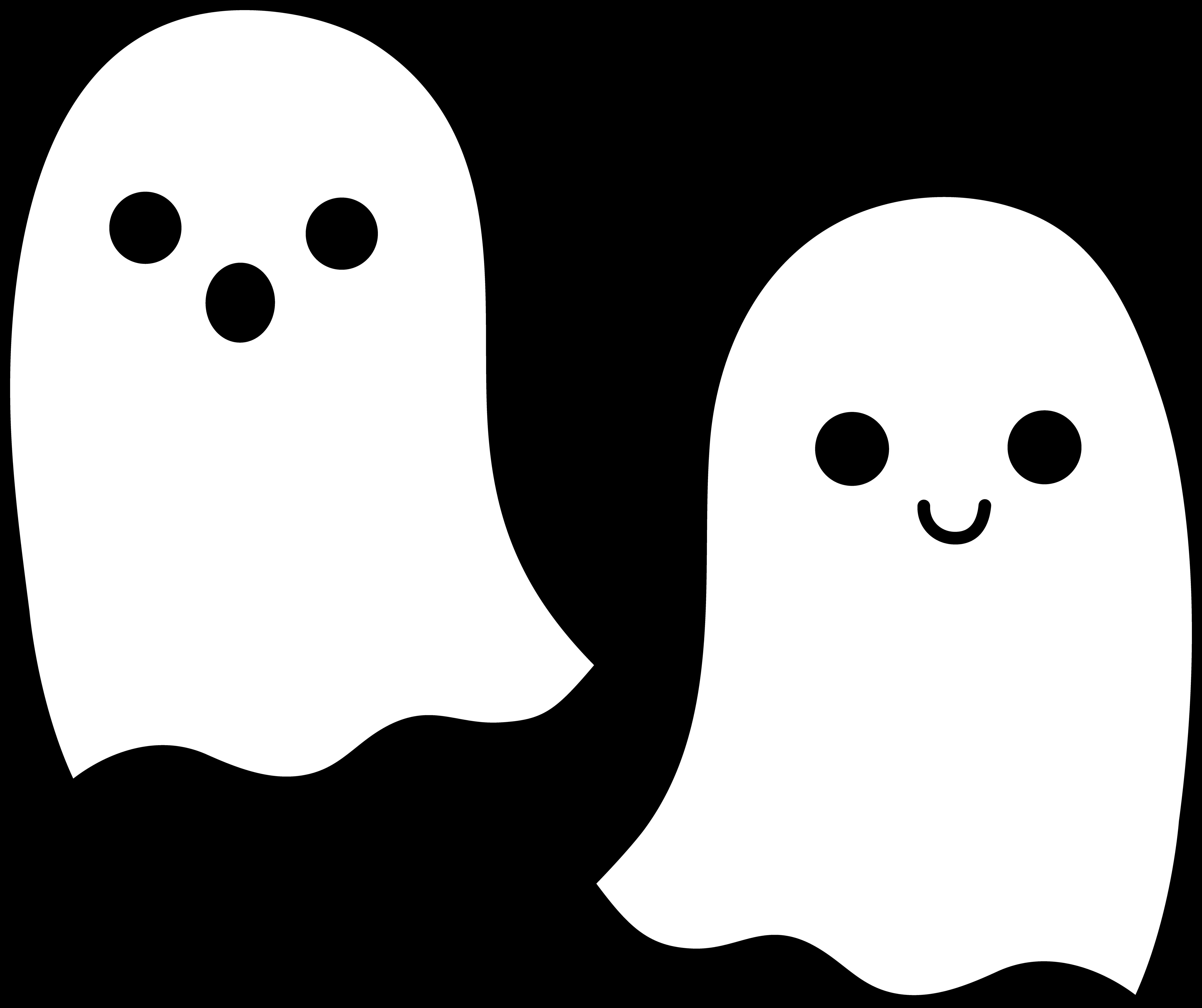 Adorable clipart ghost SCAL SCAL StencilsHalloween SVG Halloween