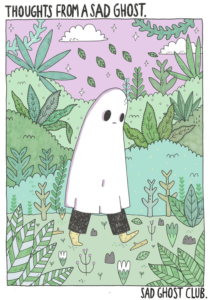 Haunted clipart sad ghost <3 Thoughts Thoughts best and