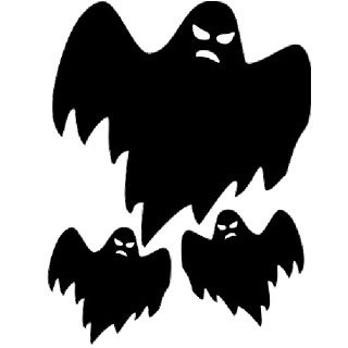 Ghostly clipart creepy Ghosts Clip Halloween Cartoon Scary