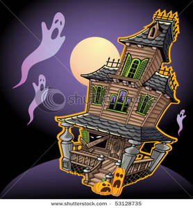 Haunted clipart scare House Floating Floating a House