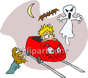 Haunted clipart scare Carnival Clipart on Haunted Ride