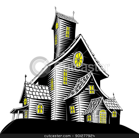 Haunted clipart scare House haunted illustration Scary vector
