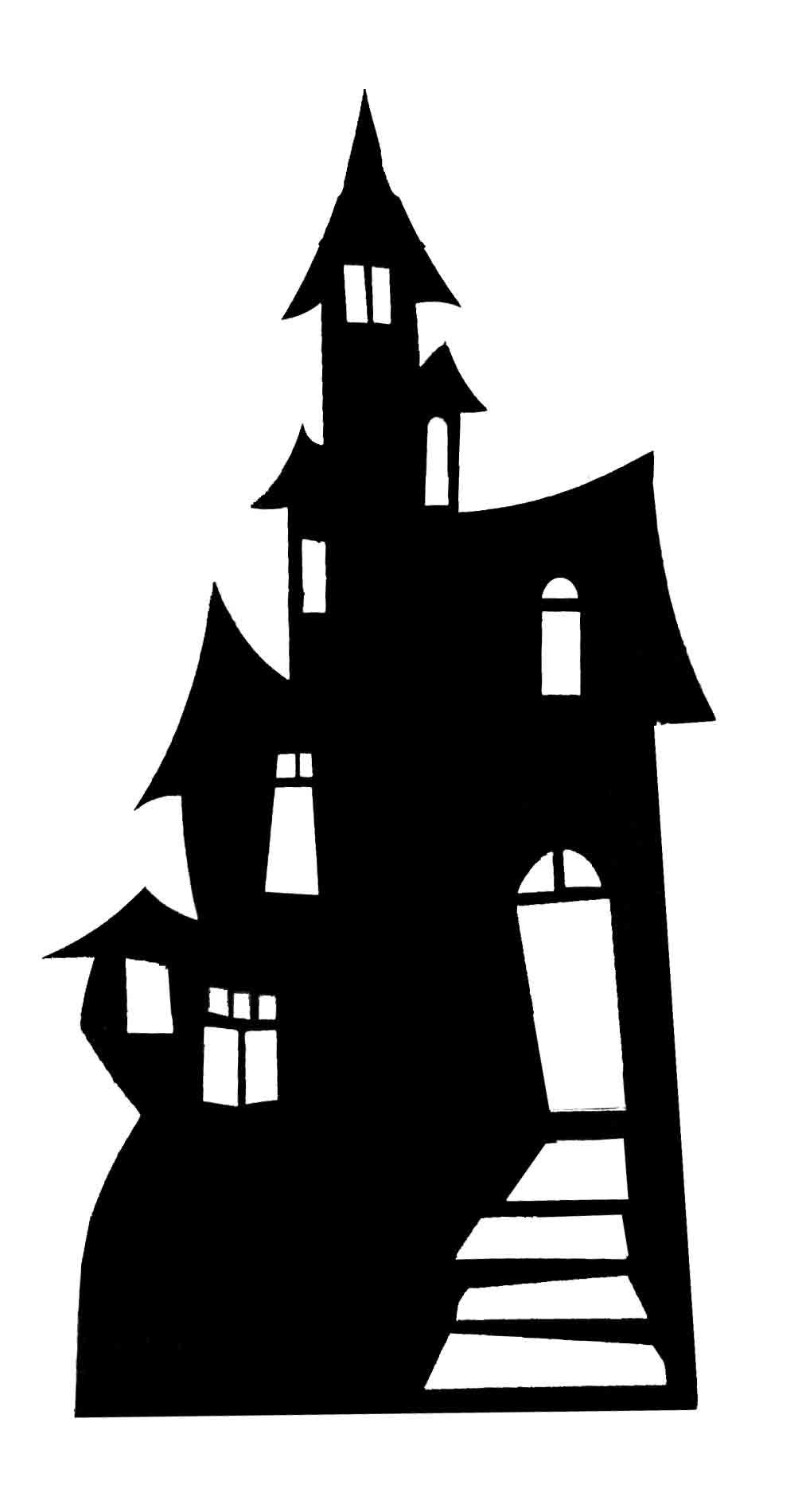 Haunted clipart silhouette #3