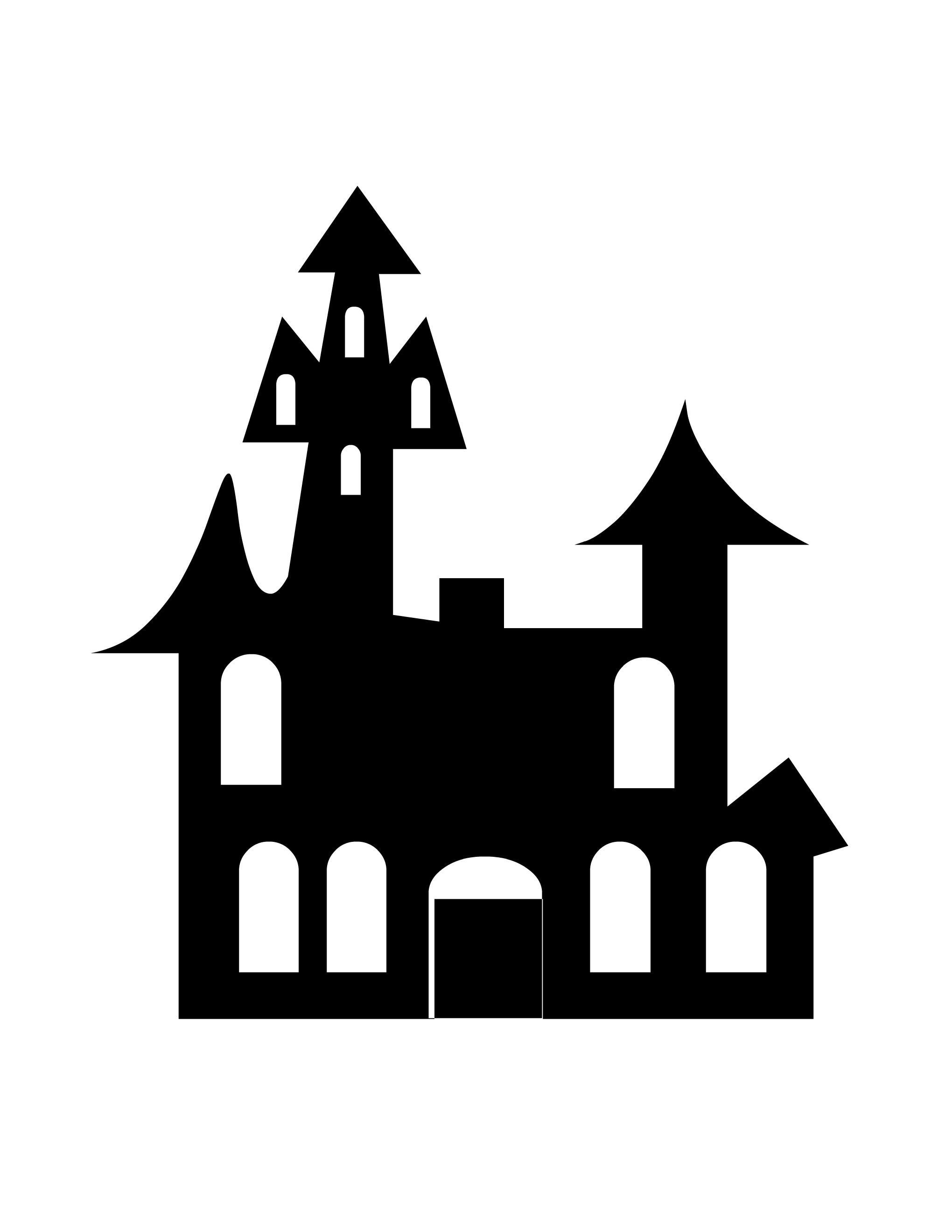 Haunted clipart silhouette #10