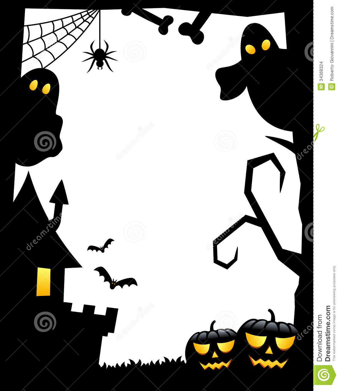 Haunted clipart silhouette #9