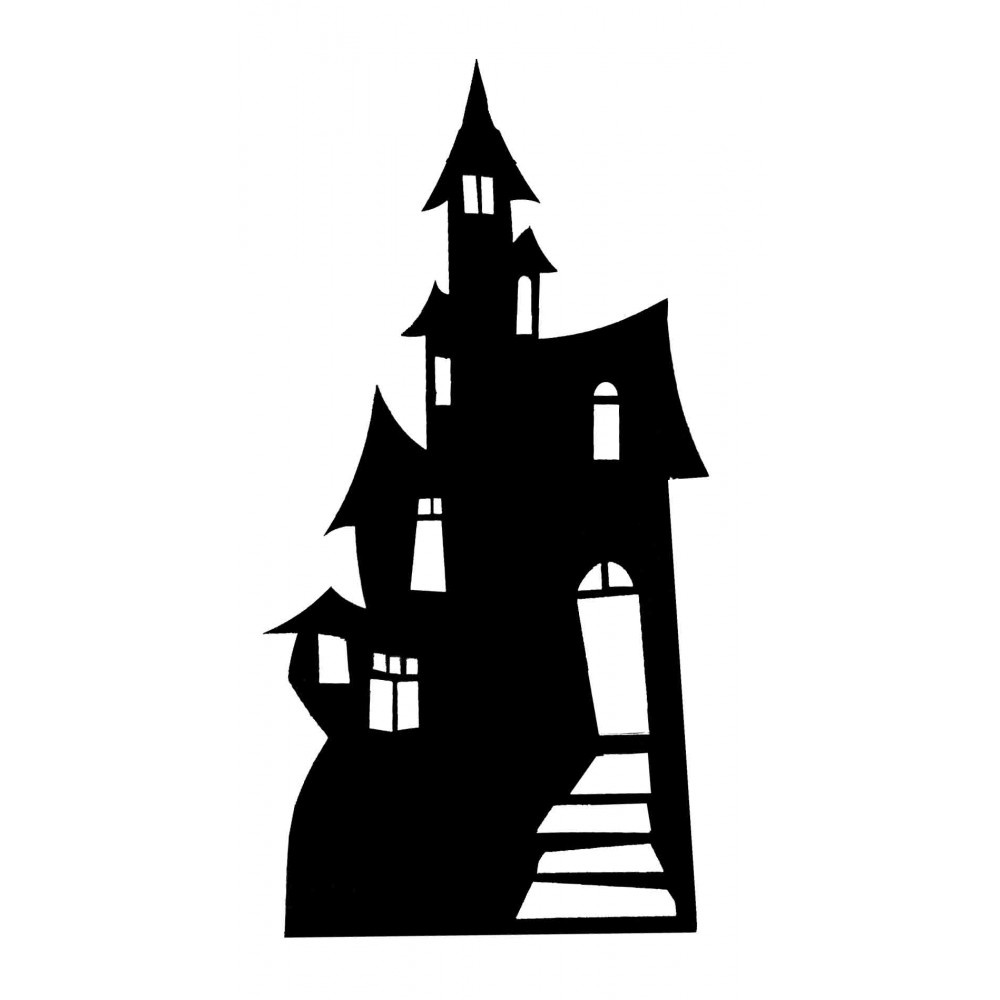 Haunted clipart silhouette #2