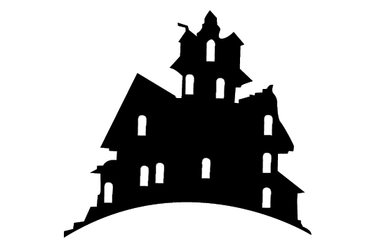 Haunted clipart silhouette #4