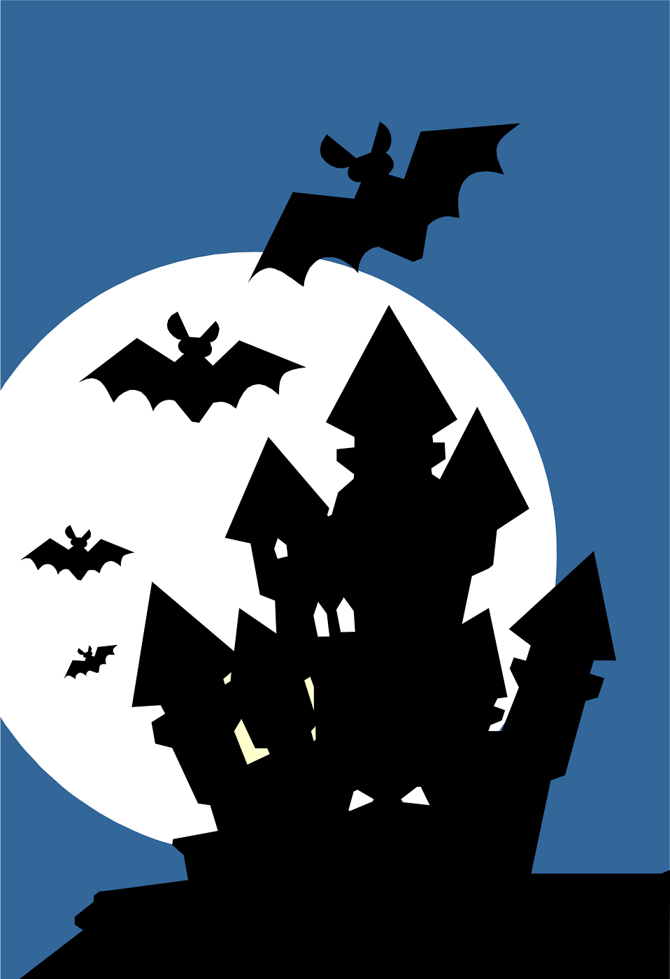 Haunted clipart silhouette #8