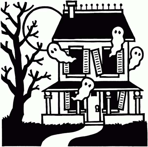 Haunted clipart soul  Ghost House Four PageFull