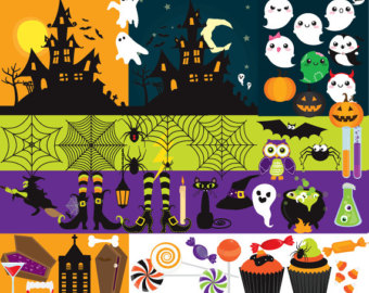 Haunted clipart spider web Clipart jack o'lanterns haunted Halloween