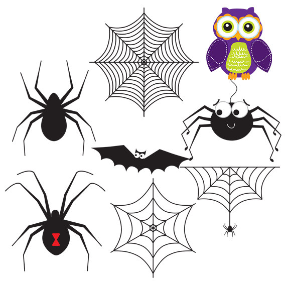 Haunted clipart spider web Art haunted house digital This