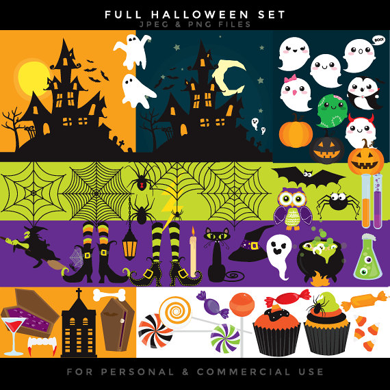 Haunted clipart spider web O clipart cute jack Halloween