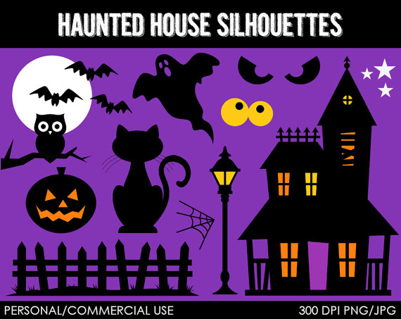 Spooky clipart haunted mansion Art Haunted  Personal or
