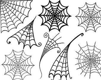 Drawn spider web spiderman ClipArt Halloween Spider  +