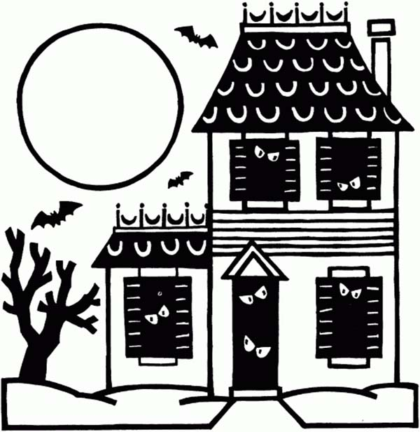 Haunted clipart spirit Page House Printable House Vicious