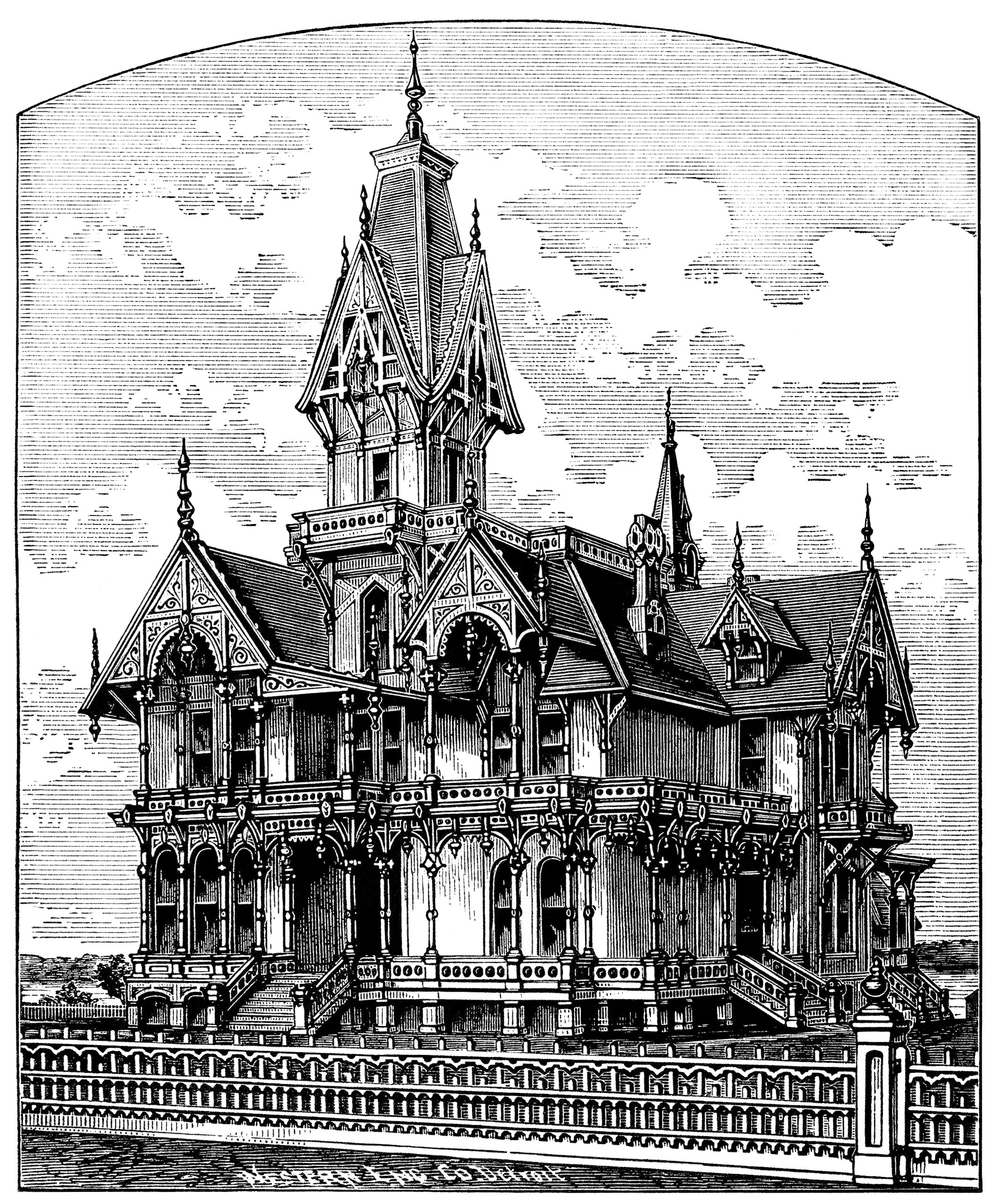 Mansion clipart villa Victorian clip house image haunted