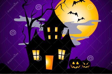 Haunted clipart spooky house Clip halloween DA spooky Clip