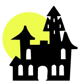 Haunted clipart spooky house Panda house Clipart clipart And