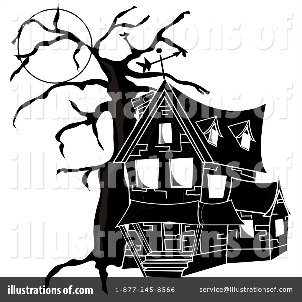 Haunted clipart spooky house Clip House house art free