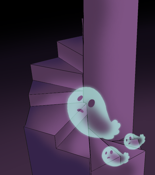 Haunted clipart staircase Staircase boom Cartoon on boom