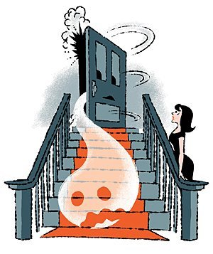 Haunted clipart staircase Mystery: Real Mystery: Opening House?