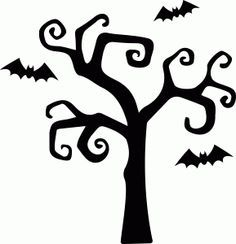 Haunted clipart tree Pinterest Google 36 about silhouettes