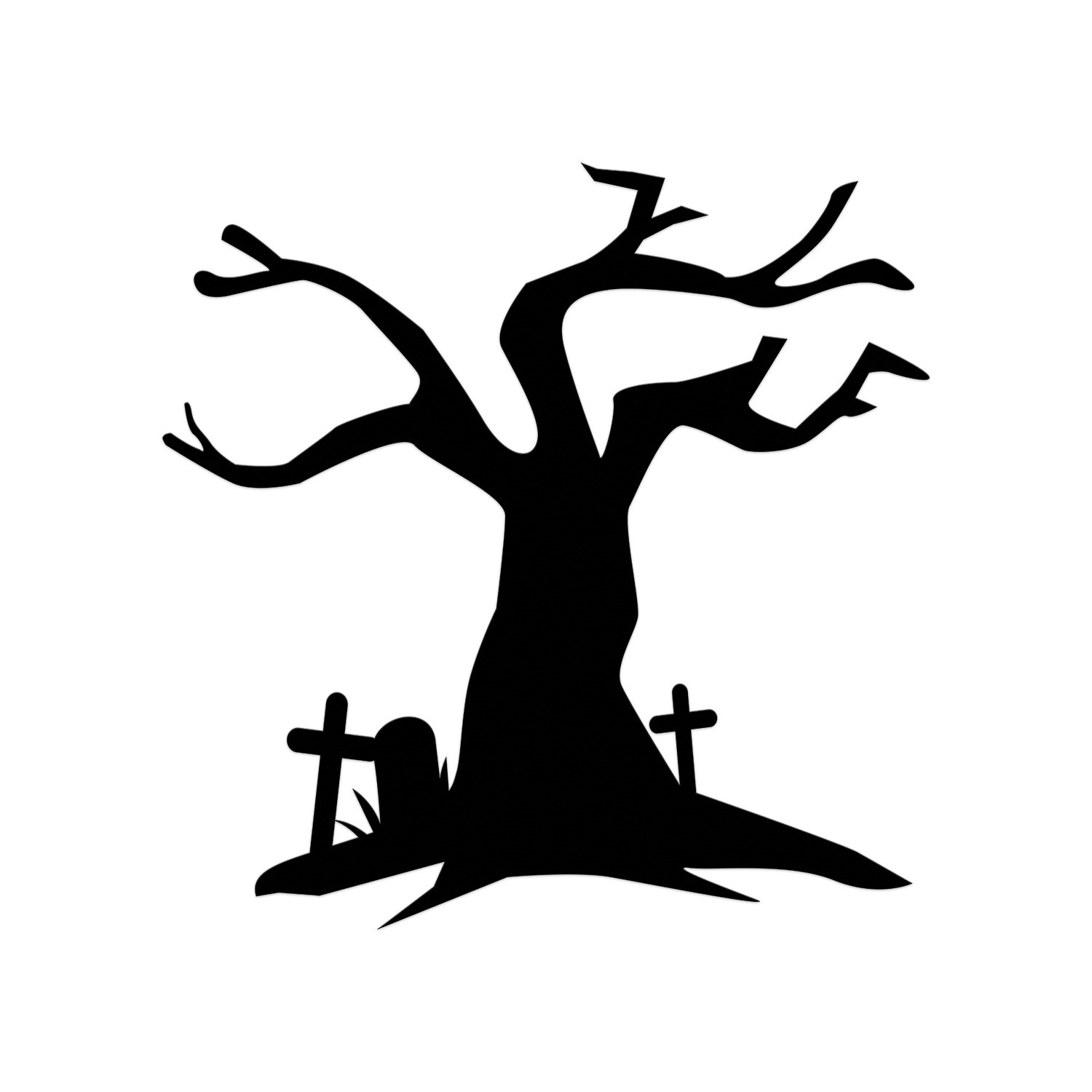 Haunted clipart tree House Halloween Cut  Cut