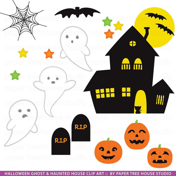 Window clipart moon Halloween Haunted Pumpkins  Clip