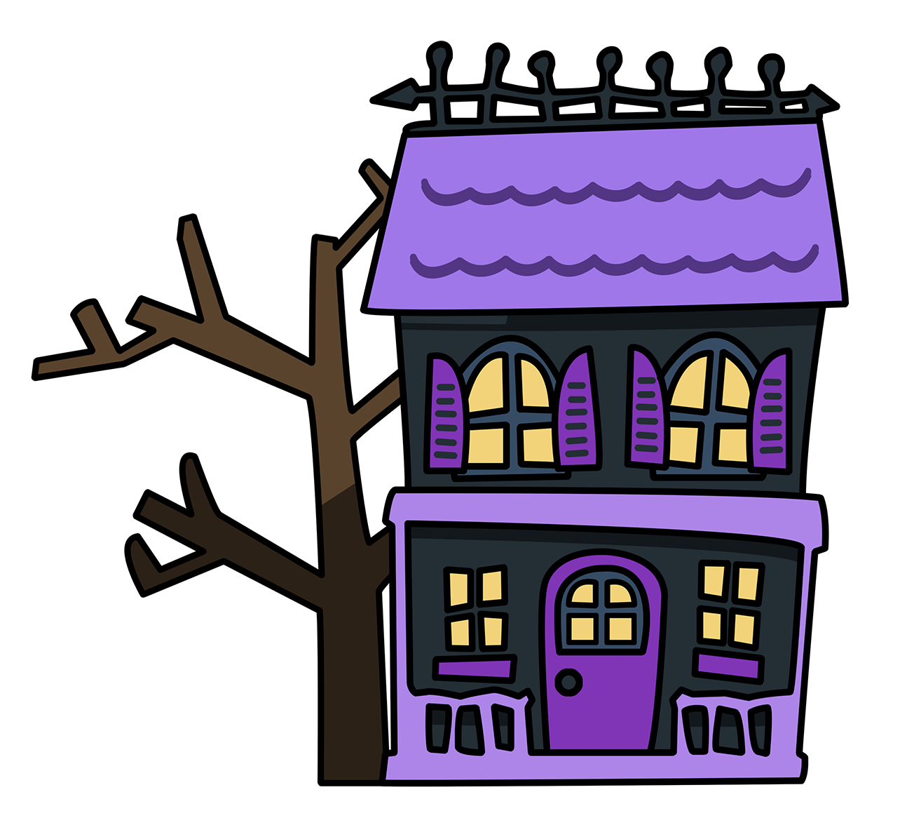 Drawn haunted house animated Art House Free Clip Haunted