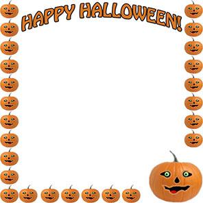 Witch clipart border Clip Happy Free Happy pumpkins