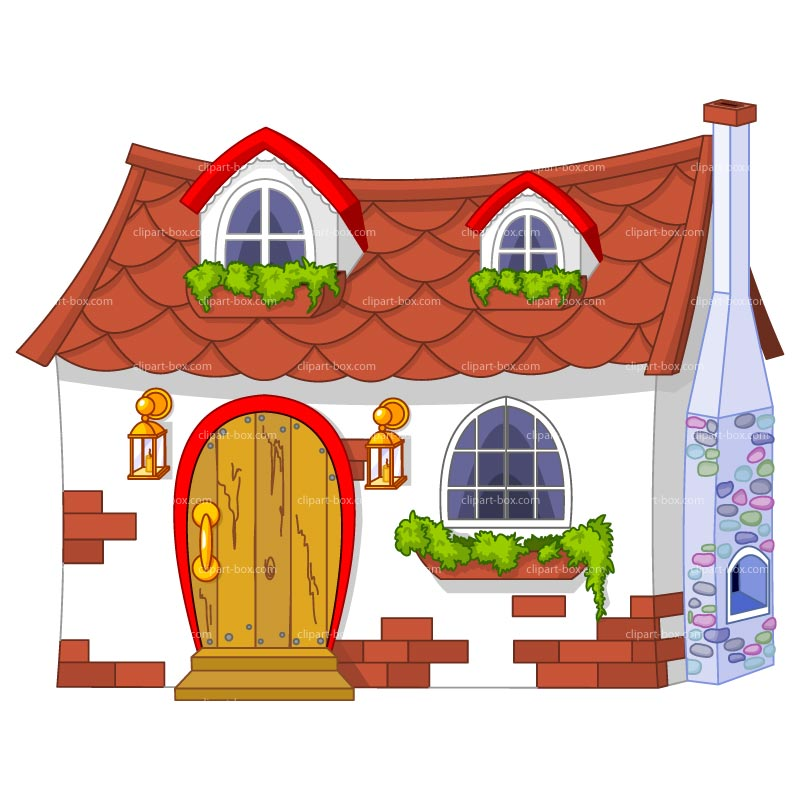 Hosue clipart cute Home kid clipart Bungalow com