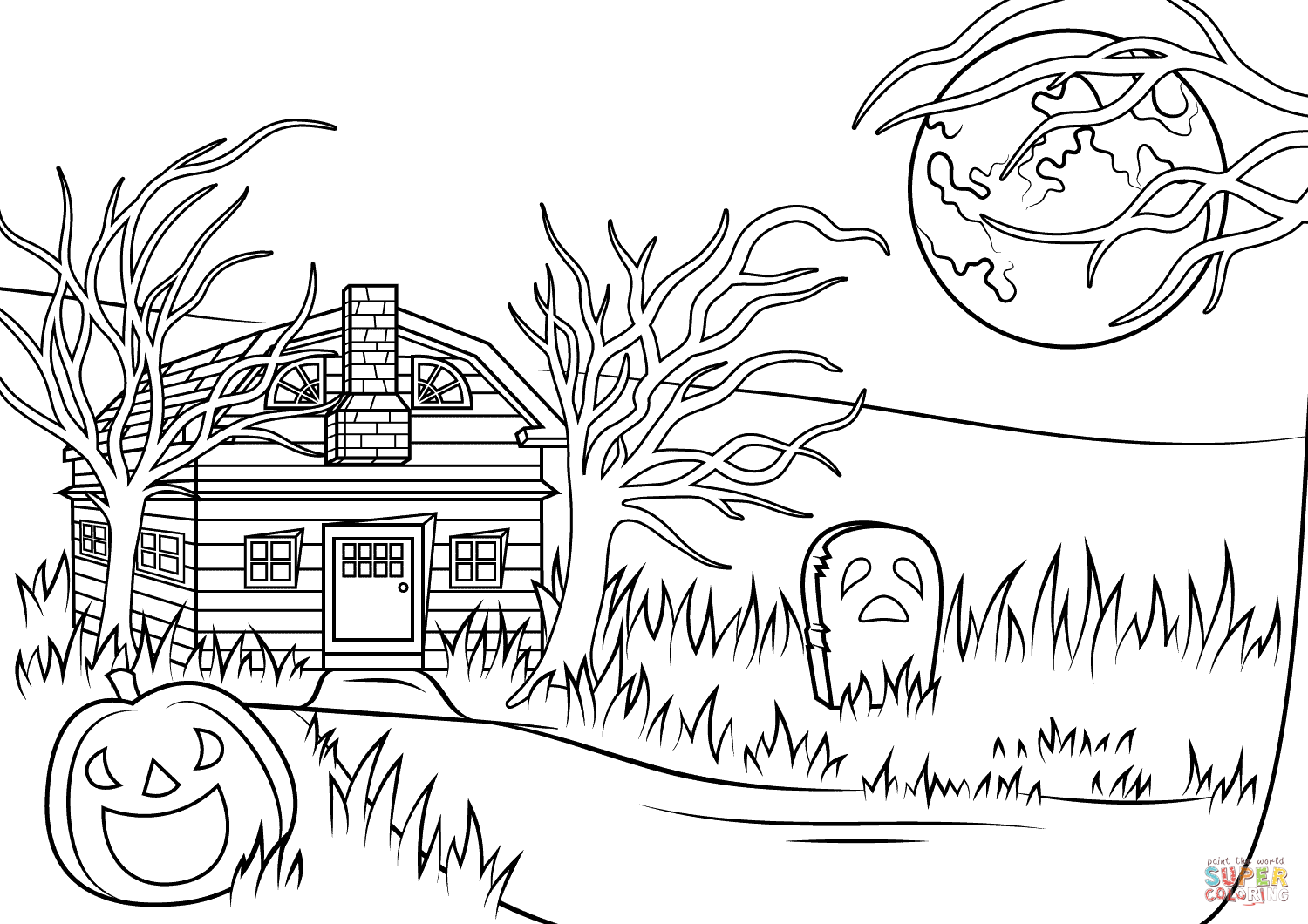 Drawn haunted house realistic It Haunted with to pages