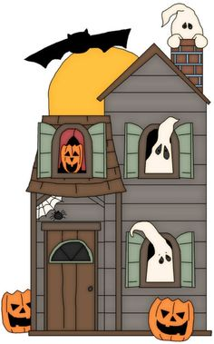 Windows clipart haunted house On galligar art clip HAUNTED