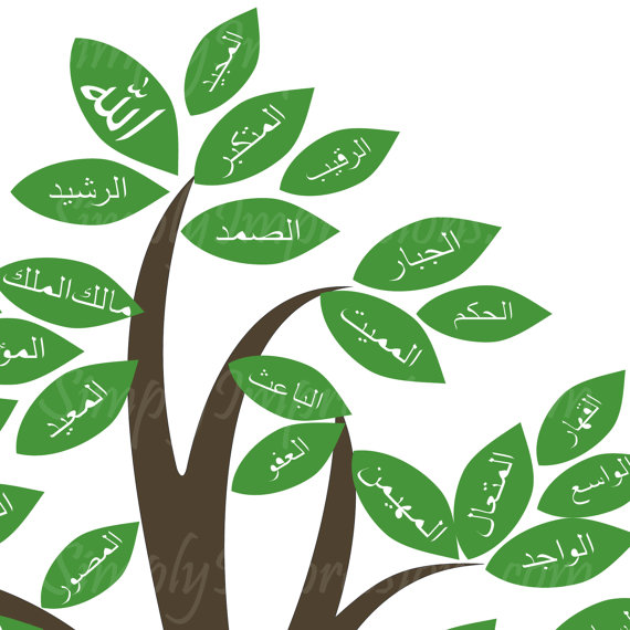 Haven clipart allah 99 of 99 names of