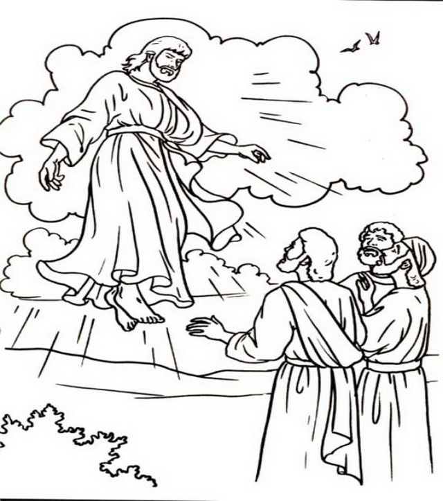 Heaven clipart coloring page Heaven Christ Jesus Christ