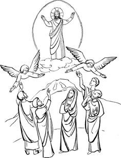 Haven clipart ascension day Pages of Szukaj Christ coloring