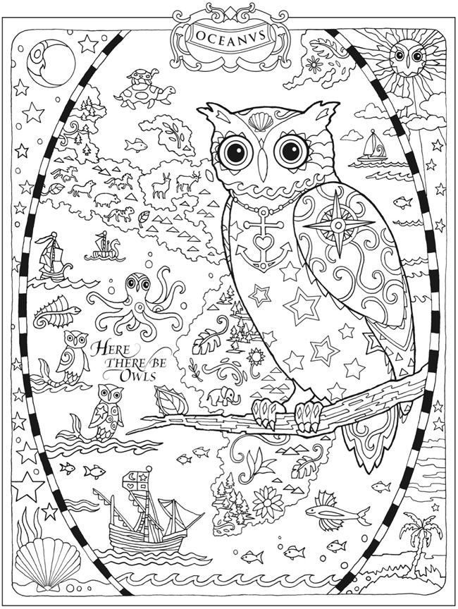 Haven clipart black and white Owls Haven & bw coloring