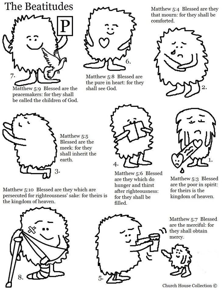 Haven clipart catholic school About images worksheets A+List+of+The+Beatitudes+Clipart+with+numbers on