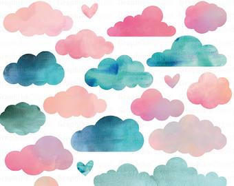 Clouds clipart cloud shape Invitation CLOUDS Clip CLIP ART