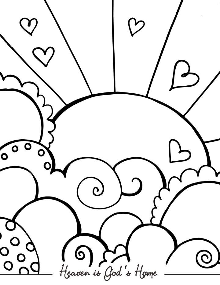 Heaven clipart colouring And this pages Coloring Page