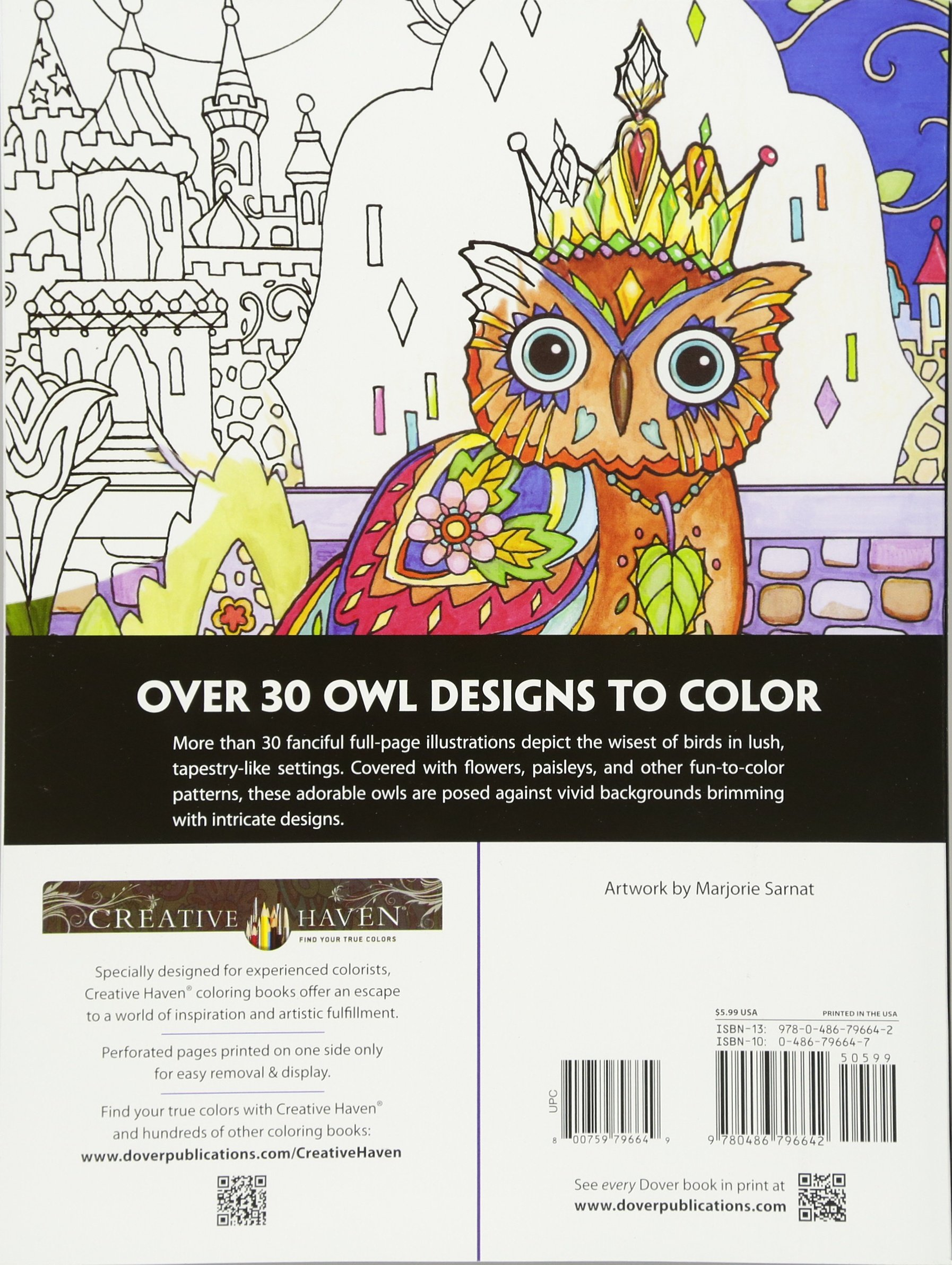 Haven clipart colouring Haven Coloring) (Adult (Adult Owls
