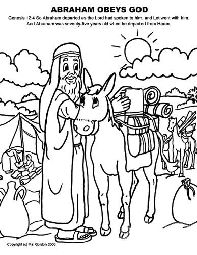 Heaven clipart father abraham & Art Coloring Sheet free