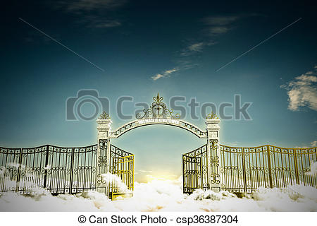 Haven clipart gates heaven Photo of the gate