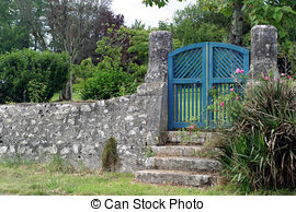 Haven clipart gates heaven Gate gate  illustration Blue