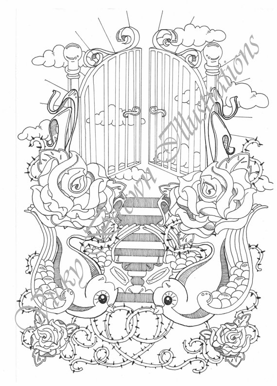 Haven clipart heaven's gate Outline on Items Etsy to