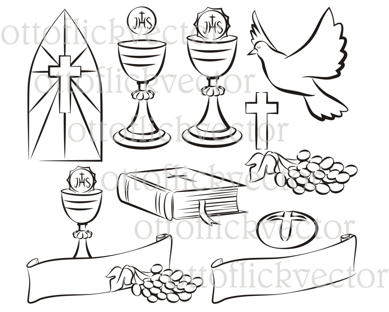 Haven clipart holy ghost Clipart Communion clipart COMMUNION silhouettes